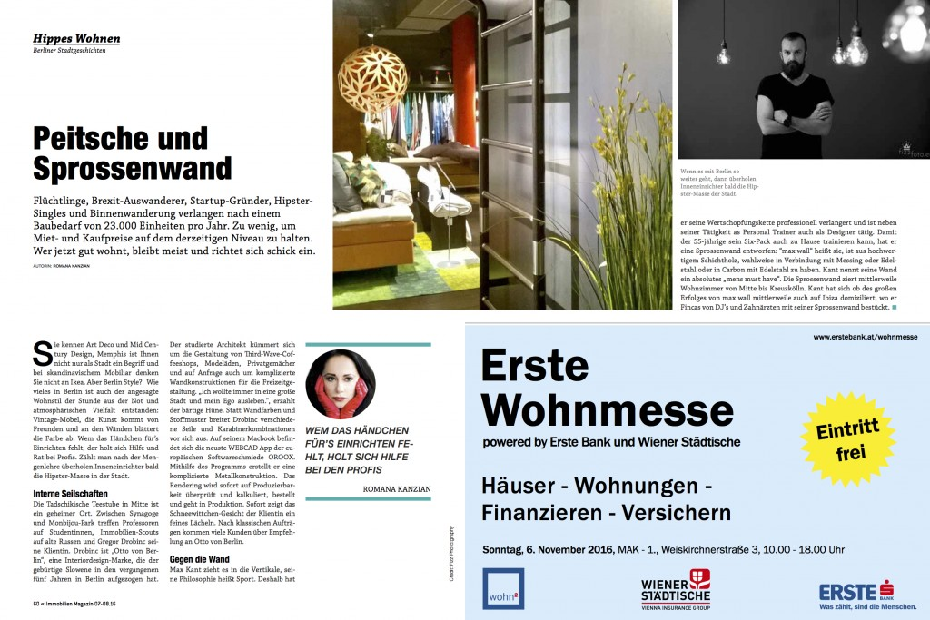 Interview of Otto von Berlin at Immobilien Magazine from Austria